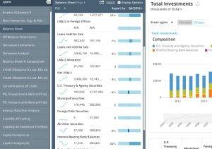 Fintech bank analysis tool desktop