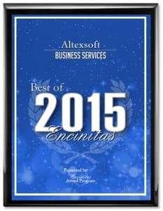 AltexSoft 2015 Best of Encinitas Award Winner logo