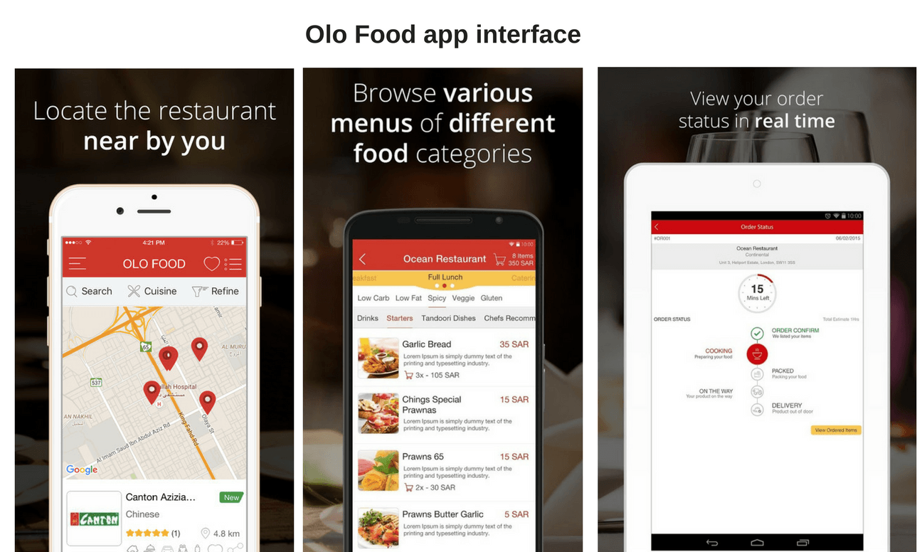 olo food app interface