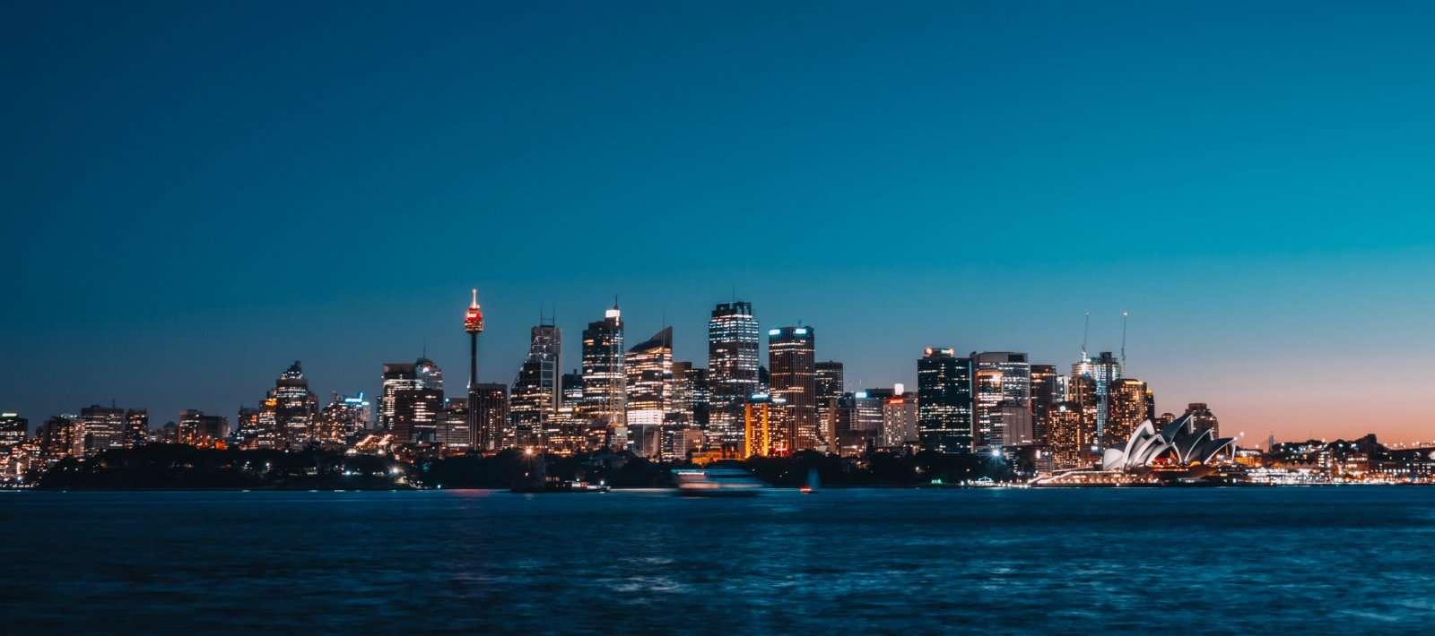 evening city bay