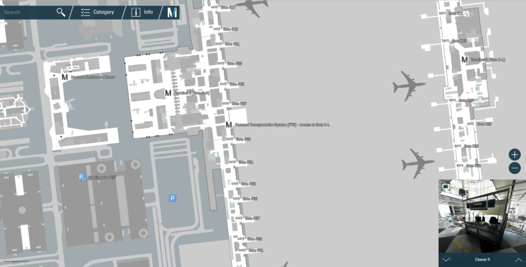 Munich airport navigation