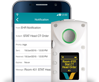 Vocera badge and app