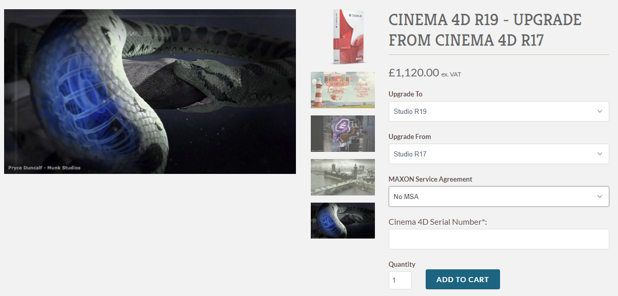 Paid apps - cinema 4D