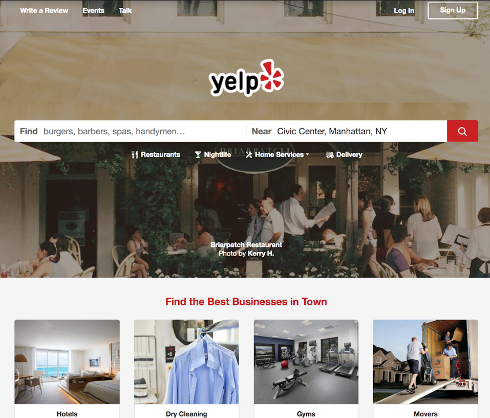 Yelp conversion strategy