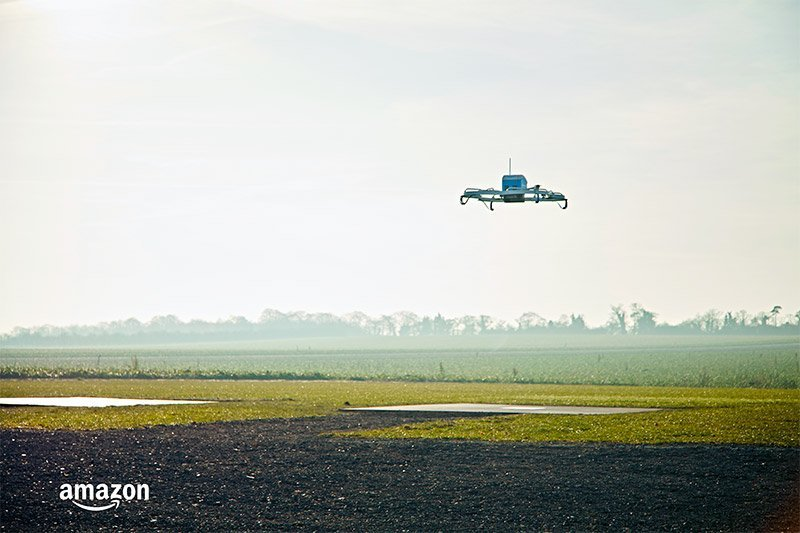 Amazon Prime Air private trial flying