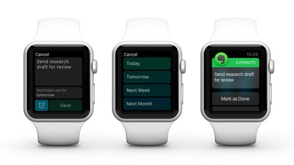 Using Evernote on Apple Watch