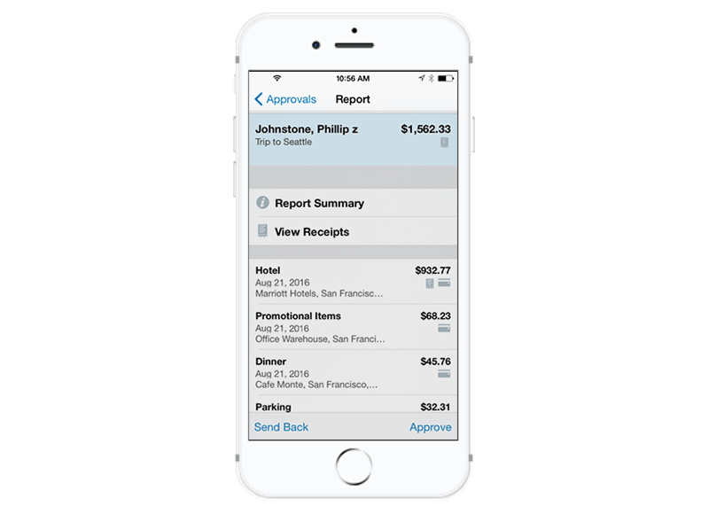 Expense reporting in Concur