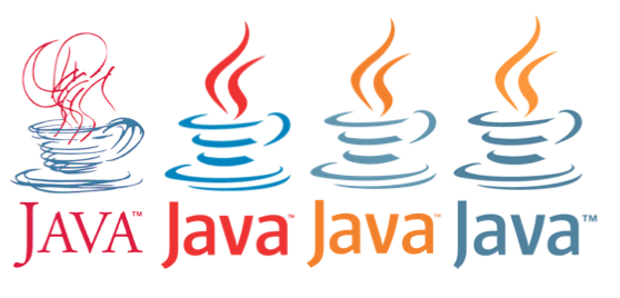 the evolution of java logo