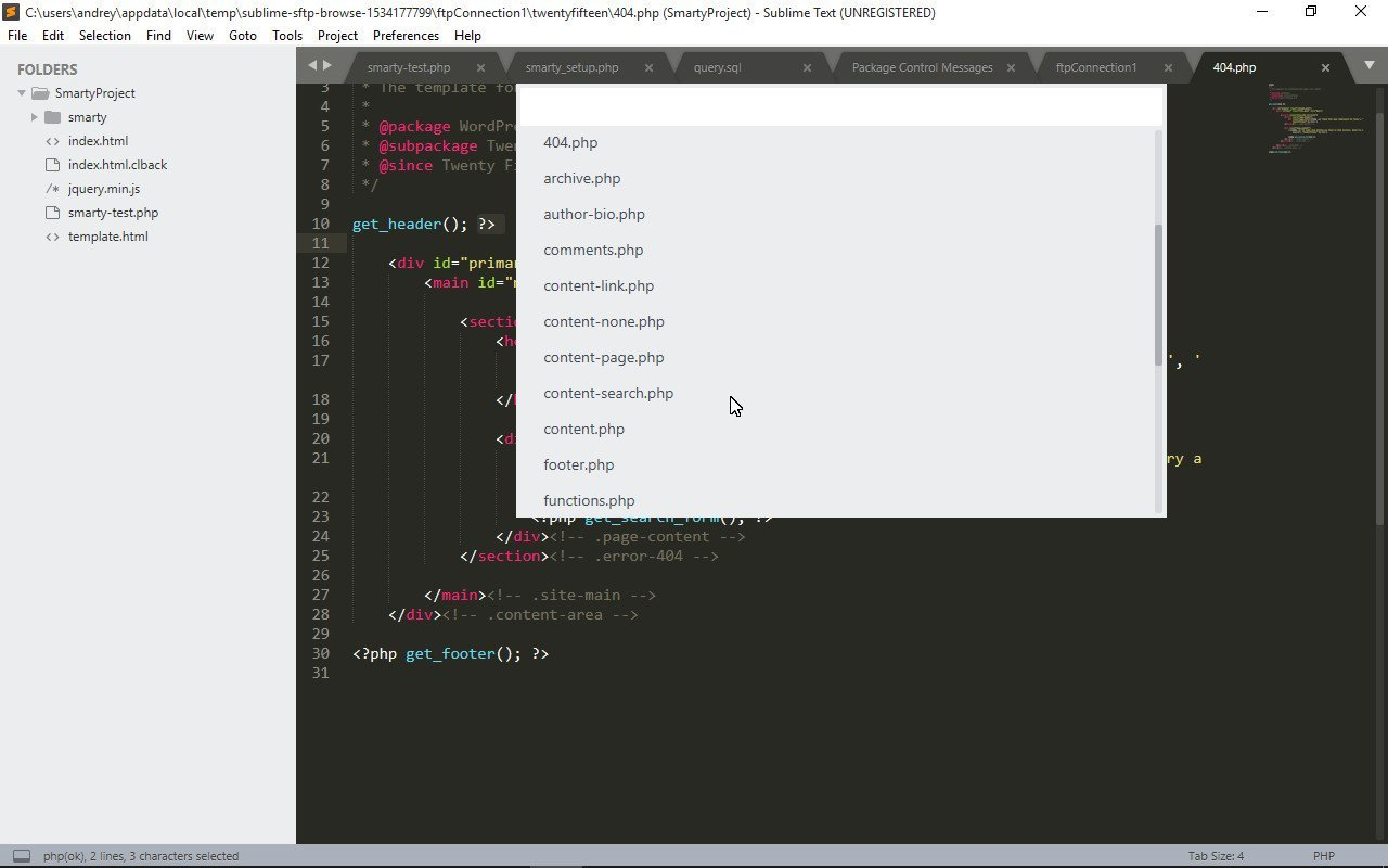 Viewing files structure on Sublime Text