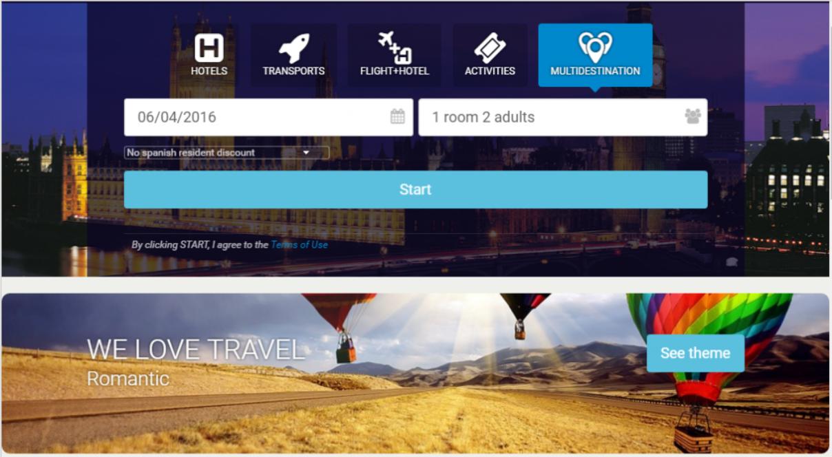 Hotelerum dynamic packaging platform