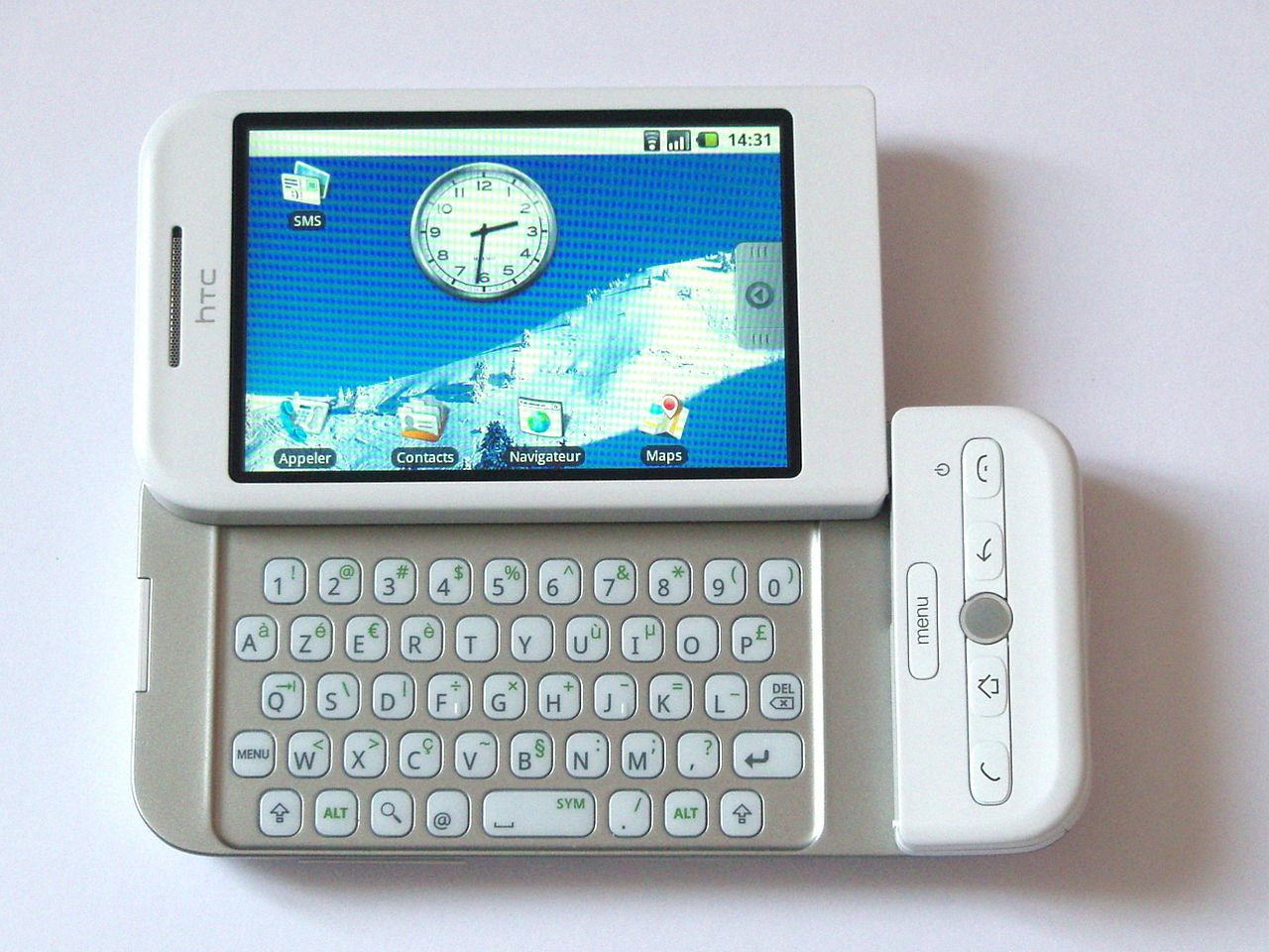 HTC Dream running in Android 1.6, 2008