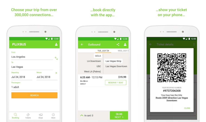 Mobile ticketing in Flixbus