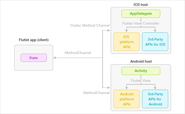 Flutter iOS and Android Structure