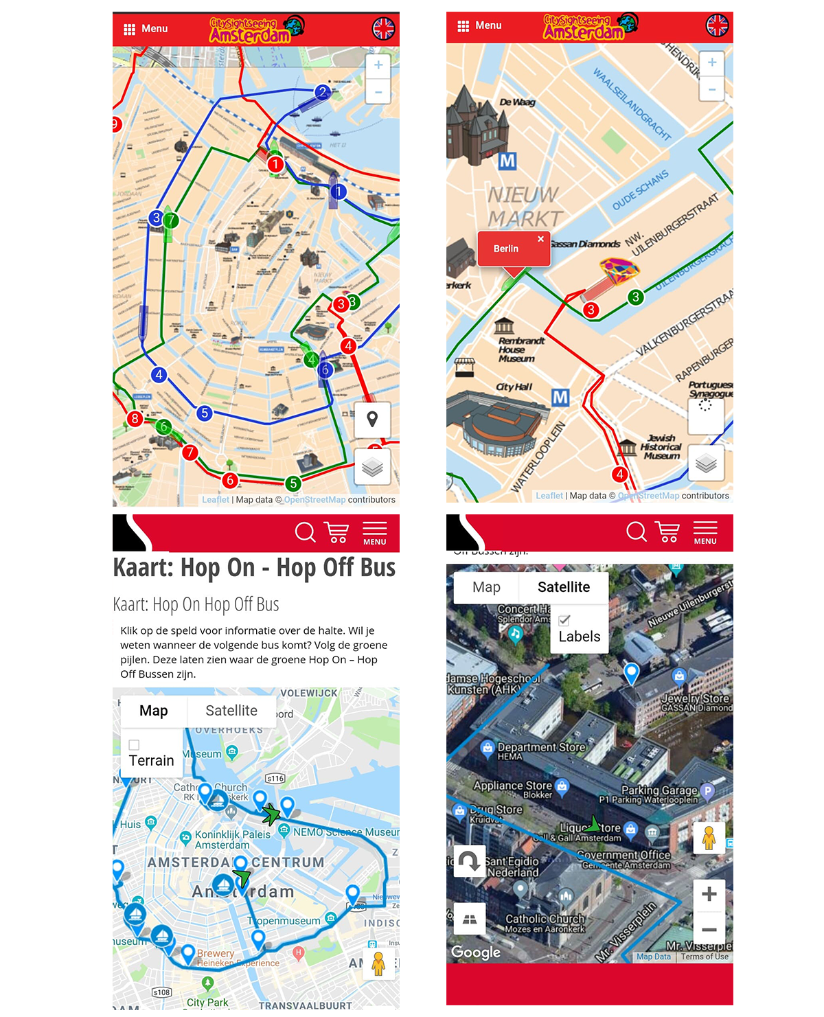 Sightseeing apps with live tracking of vehicles
