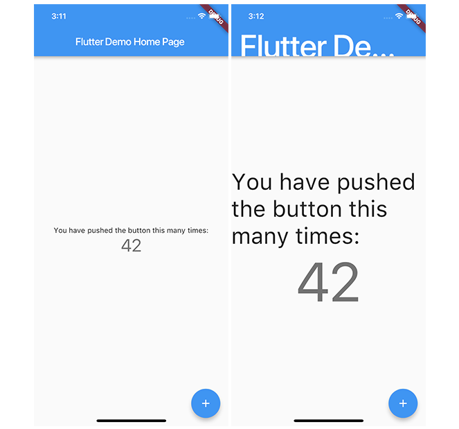 Standard vs the largest possible font settings in Flutter
