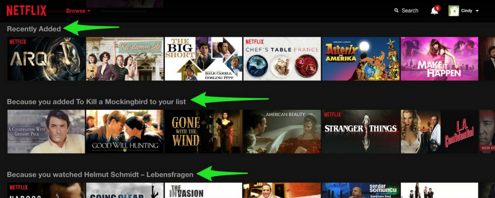Recommendations on Netflix
