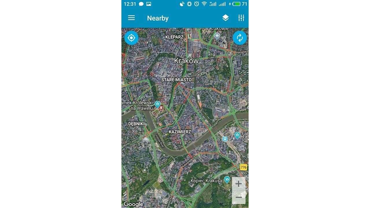 satellite map EasyWay