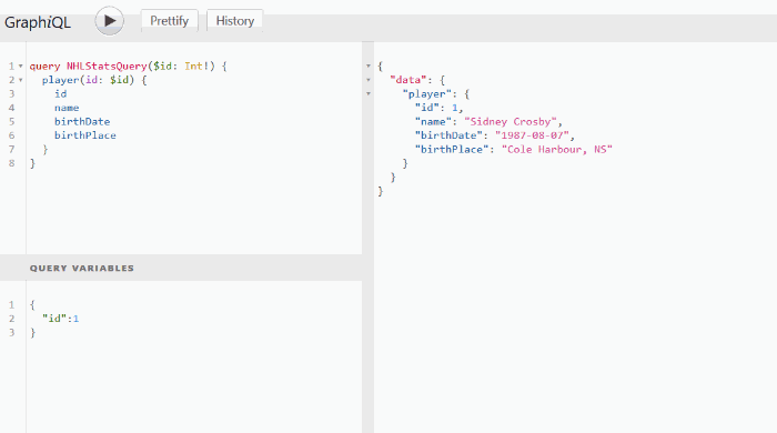 In GraphQL a developer can view the available data before making the request