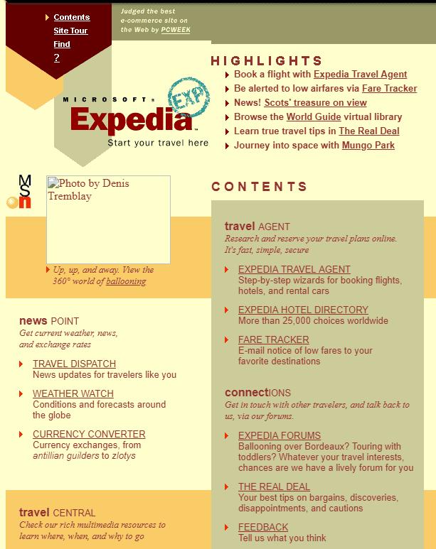 Expedia in 1997