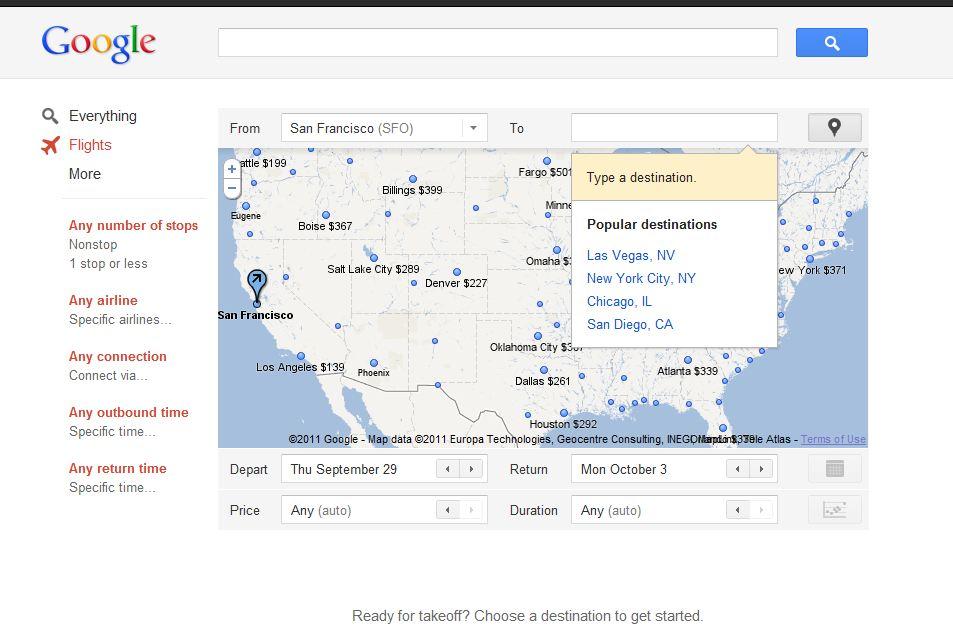 Google Flights old interface
