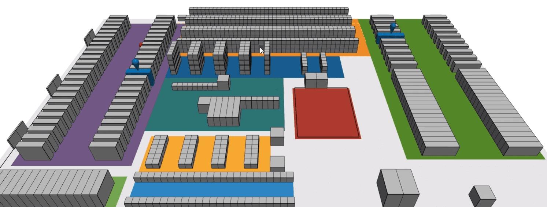 3D visual warehouse design