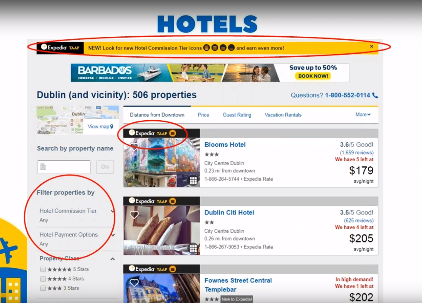 Expedia TAAP interface