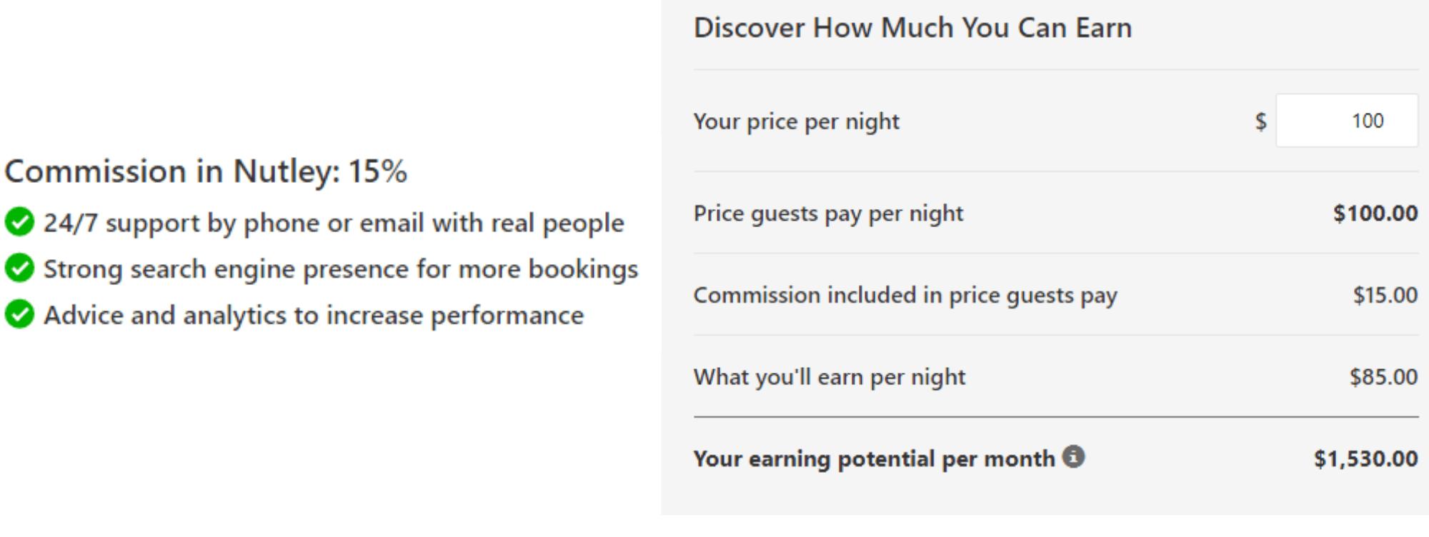 Booking.com commission calculator