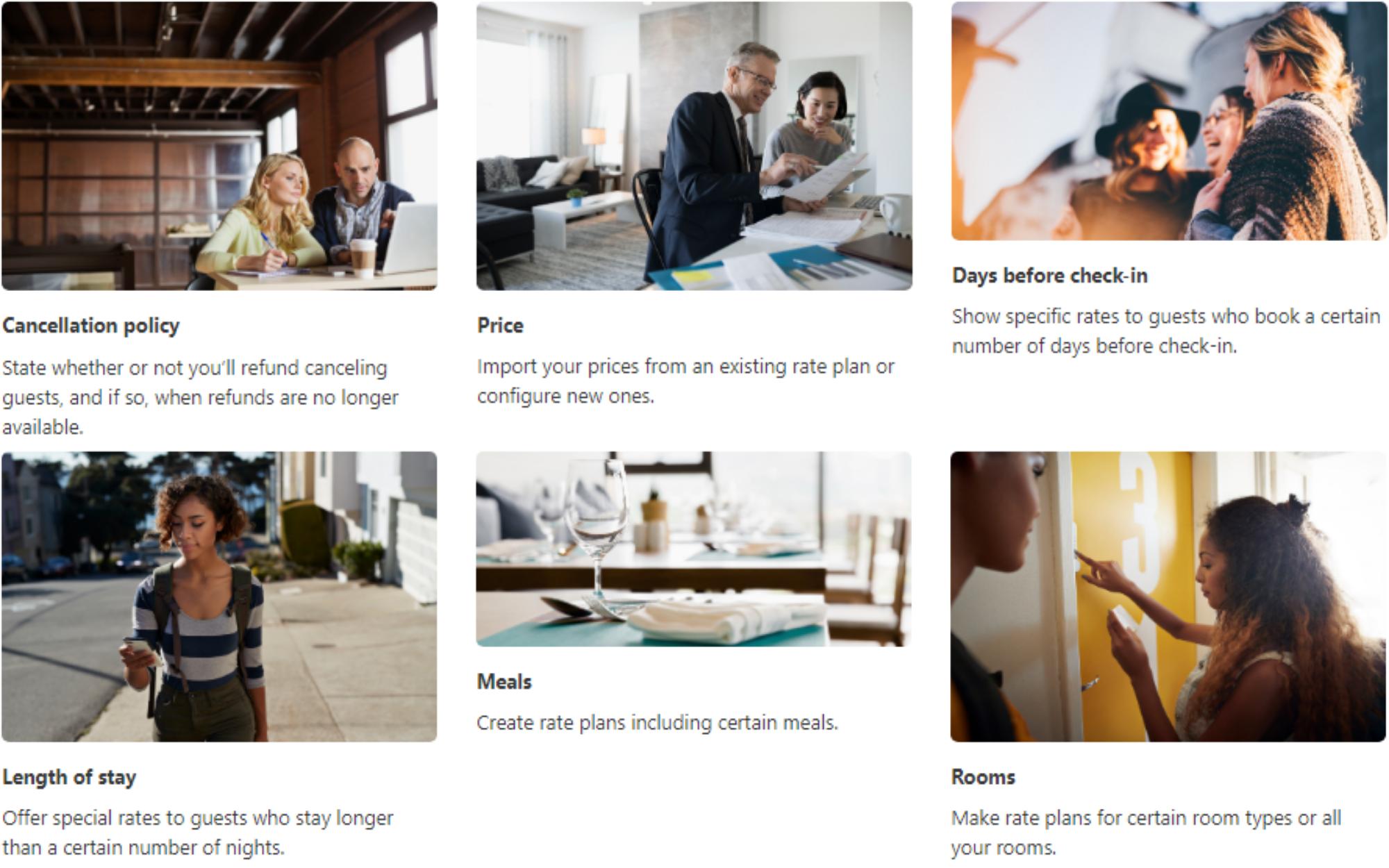 Factors influencing Booking.com rate plans