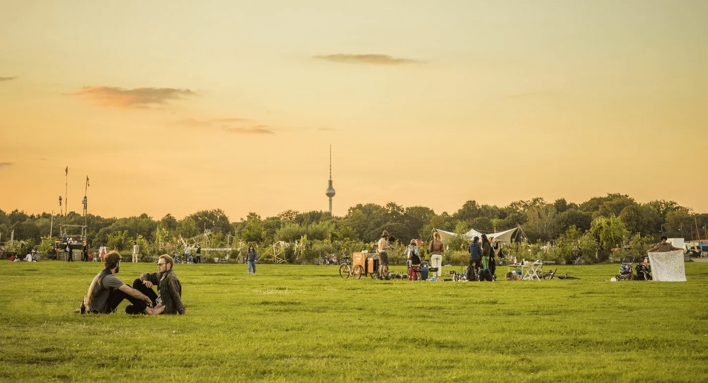 Tempelhof's 386-hectares have enough space for joggers, cyclists, picnic goers, and dog walkers