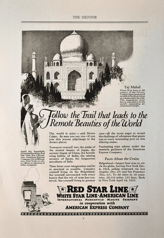 Red Star Line advertisement, 1924