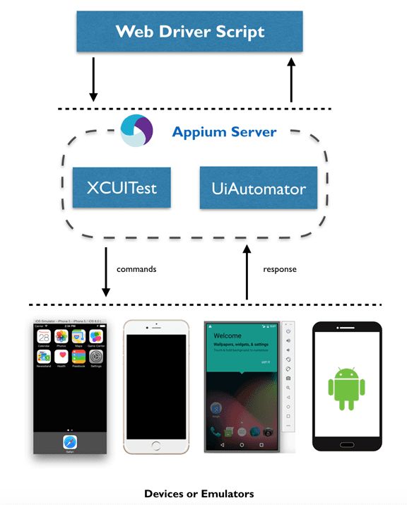 How Appium server works