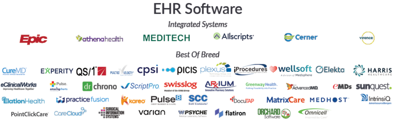EHR software vendors