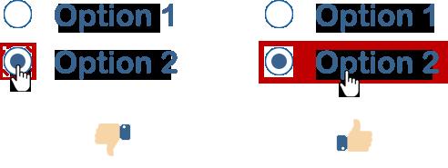 44×44 px. clickable area