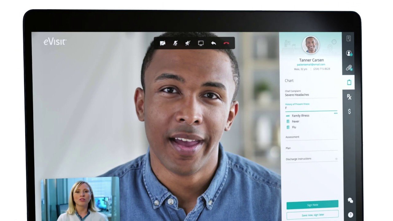 EVisit video conference application