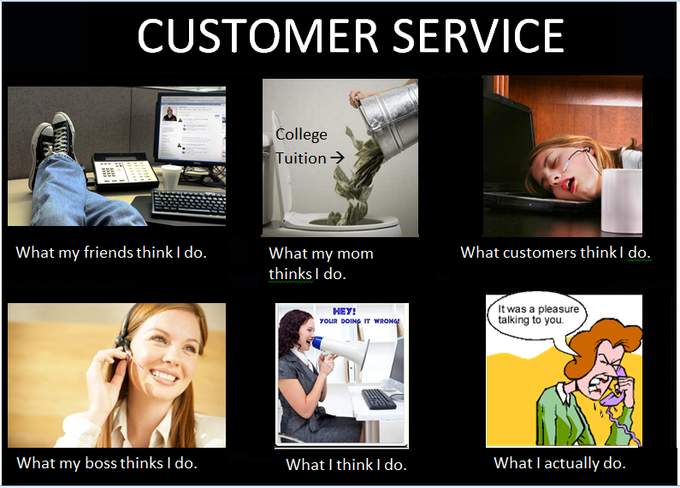 How customer support looks like to different people