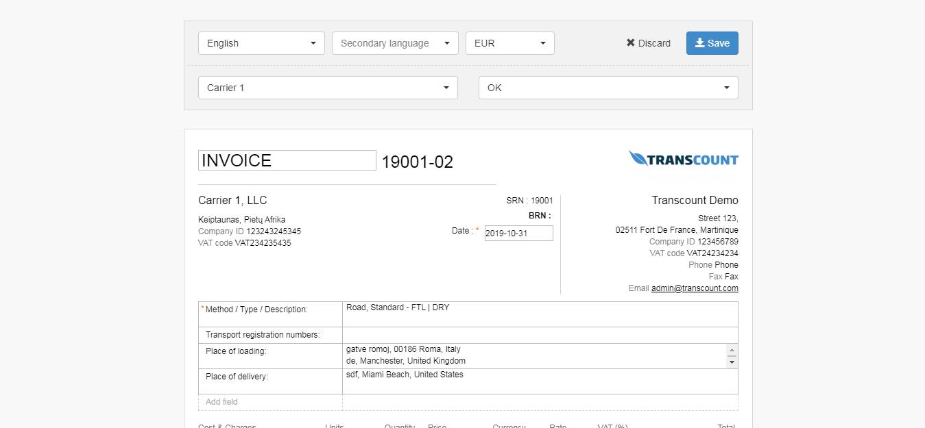 freight document management