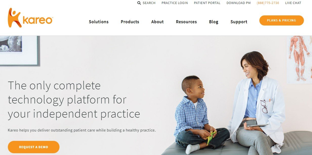 Kareo website home page