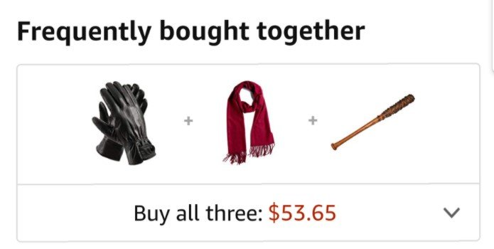 Amazon frequently bought together as a data mining example
