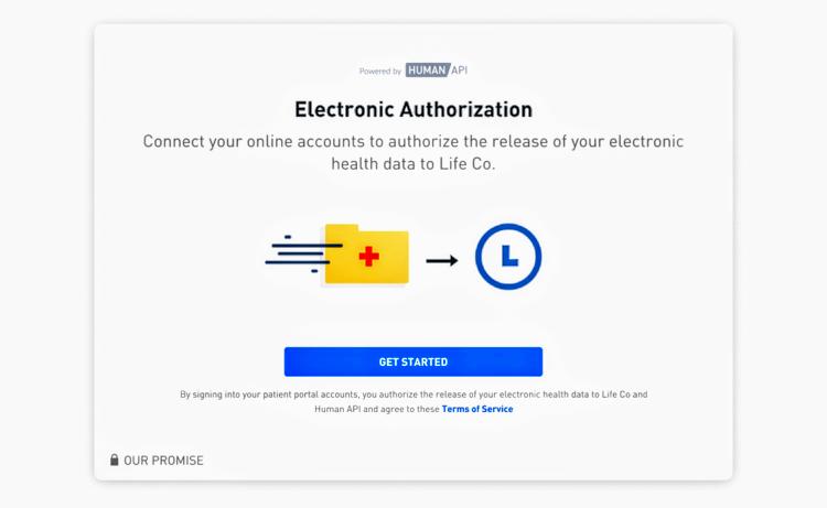 Electronic authorization by Human API