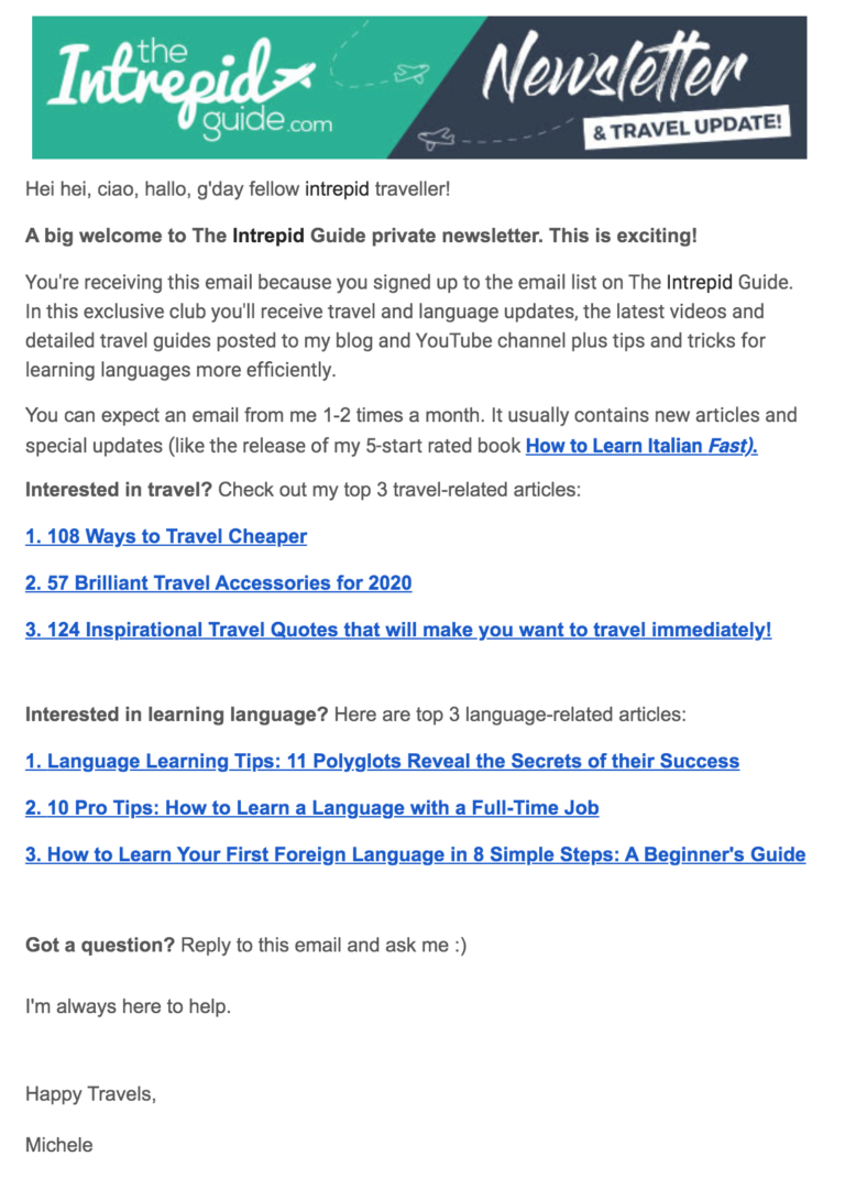 the intrepid guide newsletter