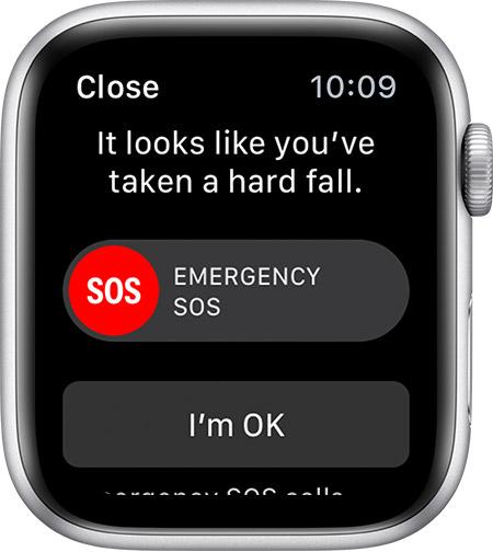 Apple Watch fall alert system dashboard
