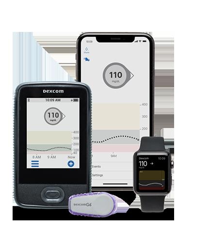 Dexcom G6 CGM System for diabetes data monitoring