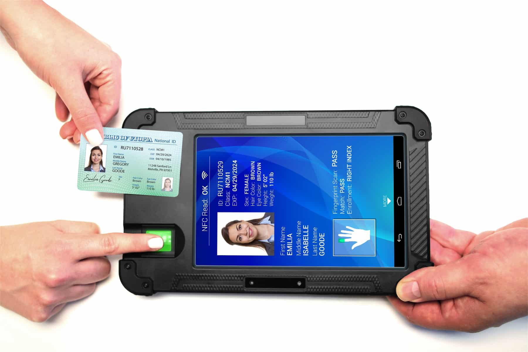 Biometric authentication tablet