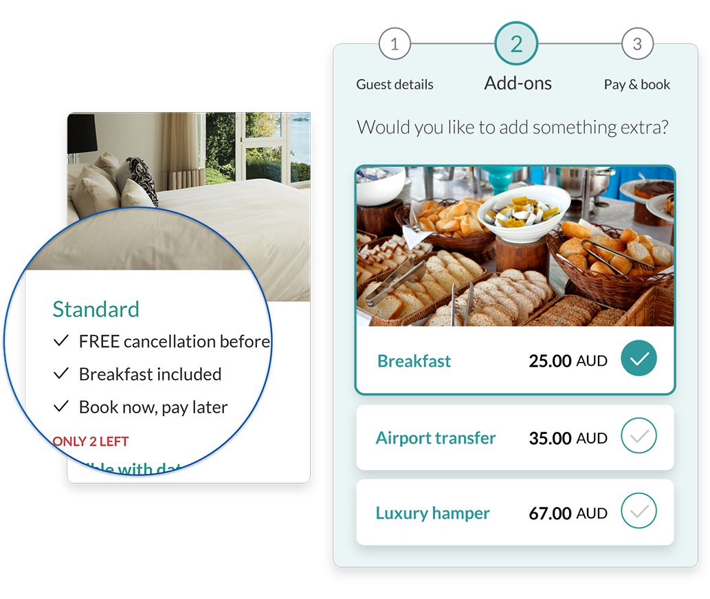 Last-minute deals and discounts in the booking flow