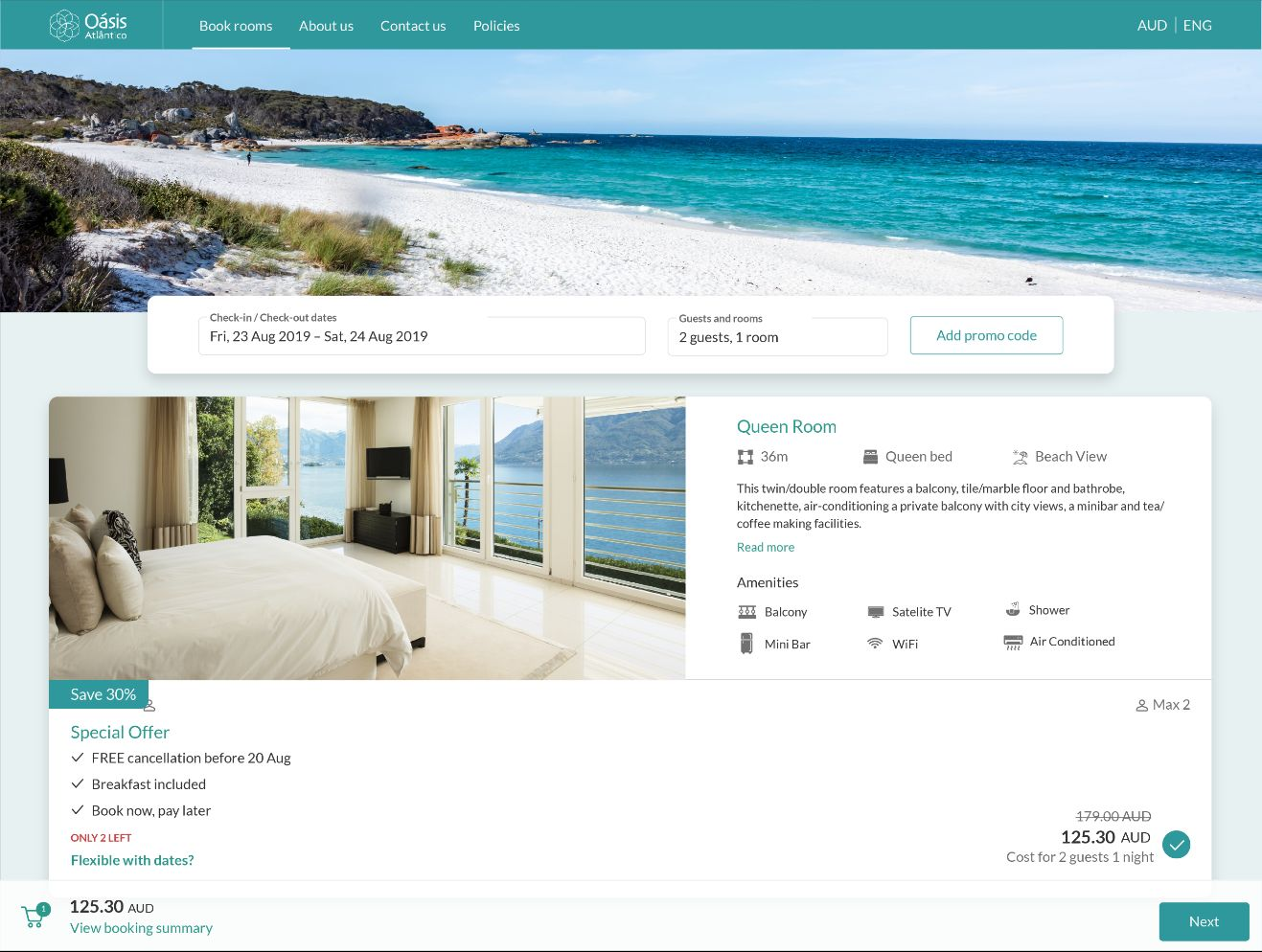 SiteMinder offers a detailed but not overcrowded interface