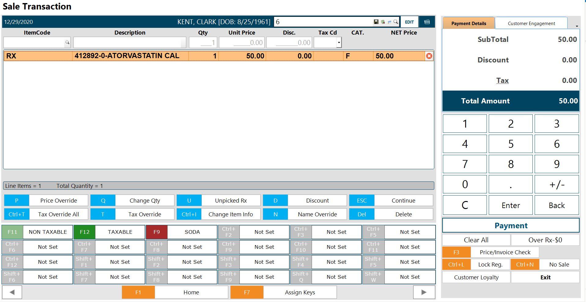 PrimePOS interface
