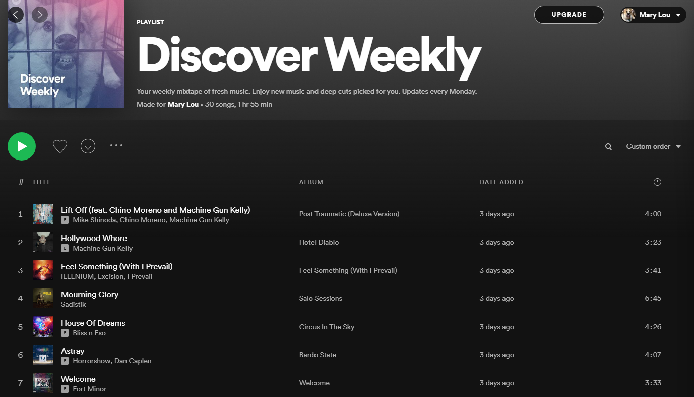 Spotify combines different recommendation models for creating its Discover Weekly mixtape