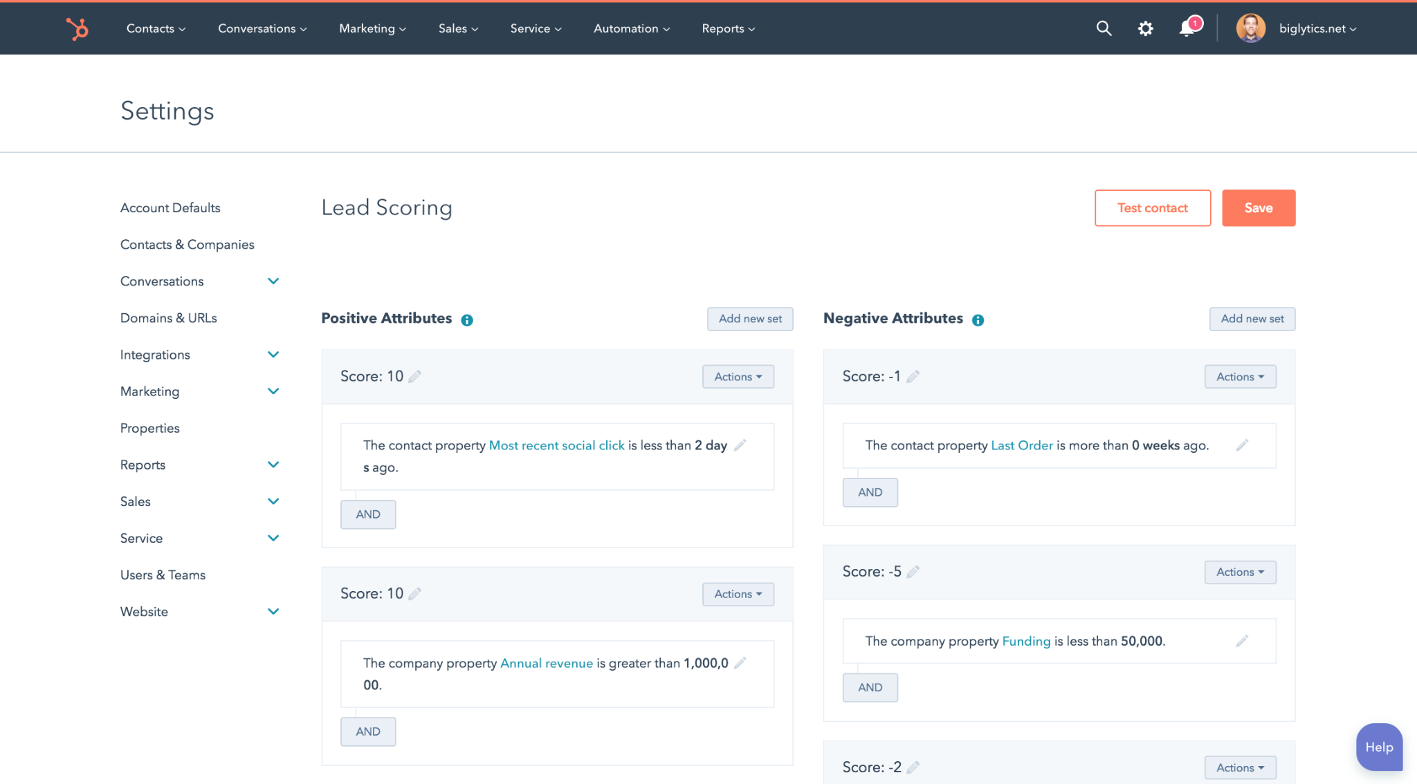 A lead scoring platform