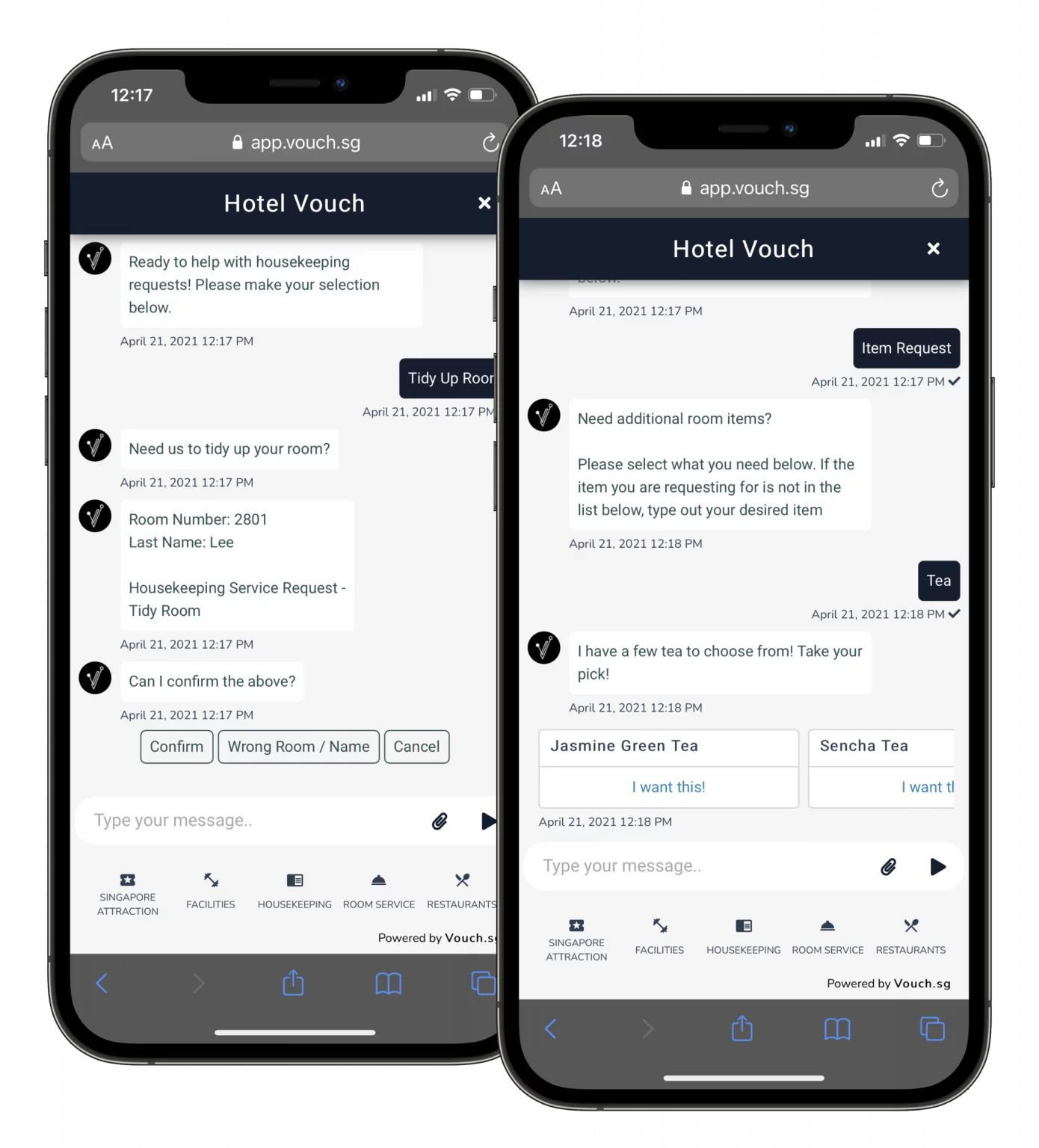 Vouch chatbot