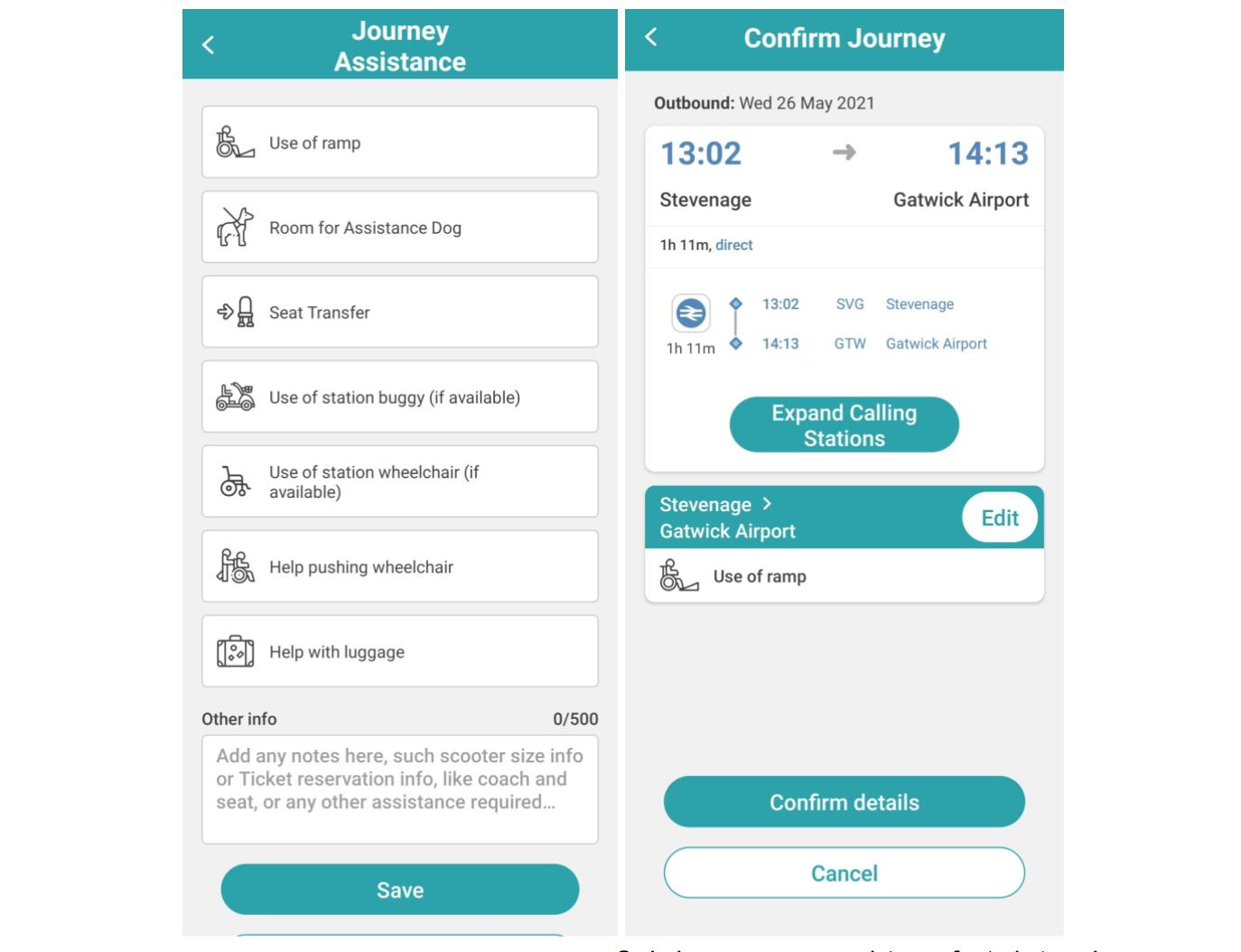 Ordering passenger assistance for train travelers